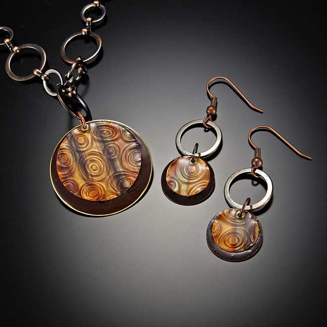Image for Enchantment Patina Copper Pendant Necklace