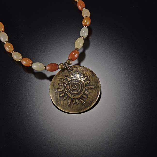 Image for Solar Spiral Necklace
