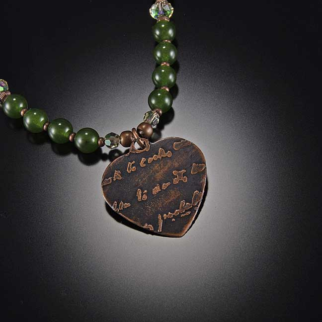 Image for Antique Copper Heart Necklace