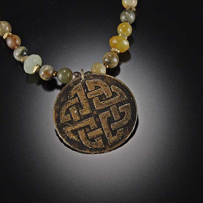 Image for Quaternary Round Celtic Knot Necklace
